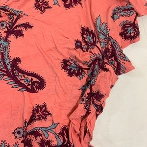 Free People Tops - Free People Floral BOHO Poncho Top Blouse L